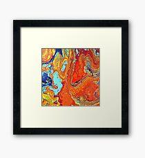 Ocean Lava Framed Print