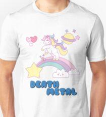 Death Metal Einhorn Slim Fit T-Shirt