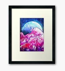 The blue planet rises  Framed Print