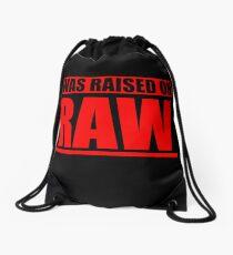 Raised on RAW Drawstring Bag