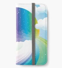 Rainbow moon iPhone Flip-Case/Hülle/Klebefolie