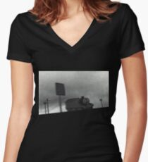 Godspeed You! Black Emperor - Slow Moving Thomas Women's Fitted V-Neck T-Shirt