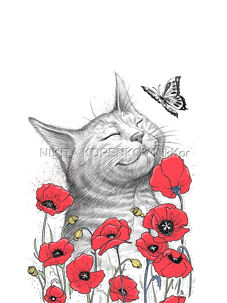 Cat in poppies von NikKor