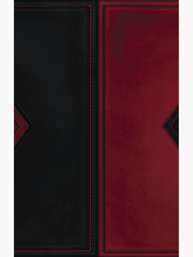 Patchwork Red & Black Leder Effekt Motley mit Diamant Patches 4 von hellthirteen