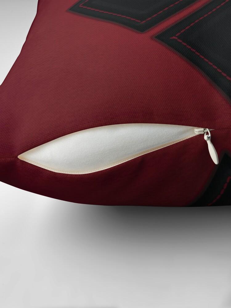 Alternative Ansicht von Patchwork Red & Black Leder Effekt Motley mit Diamant Patches 4 Dekokissen