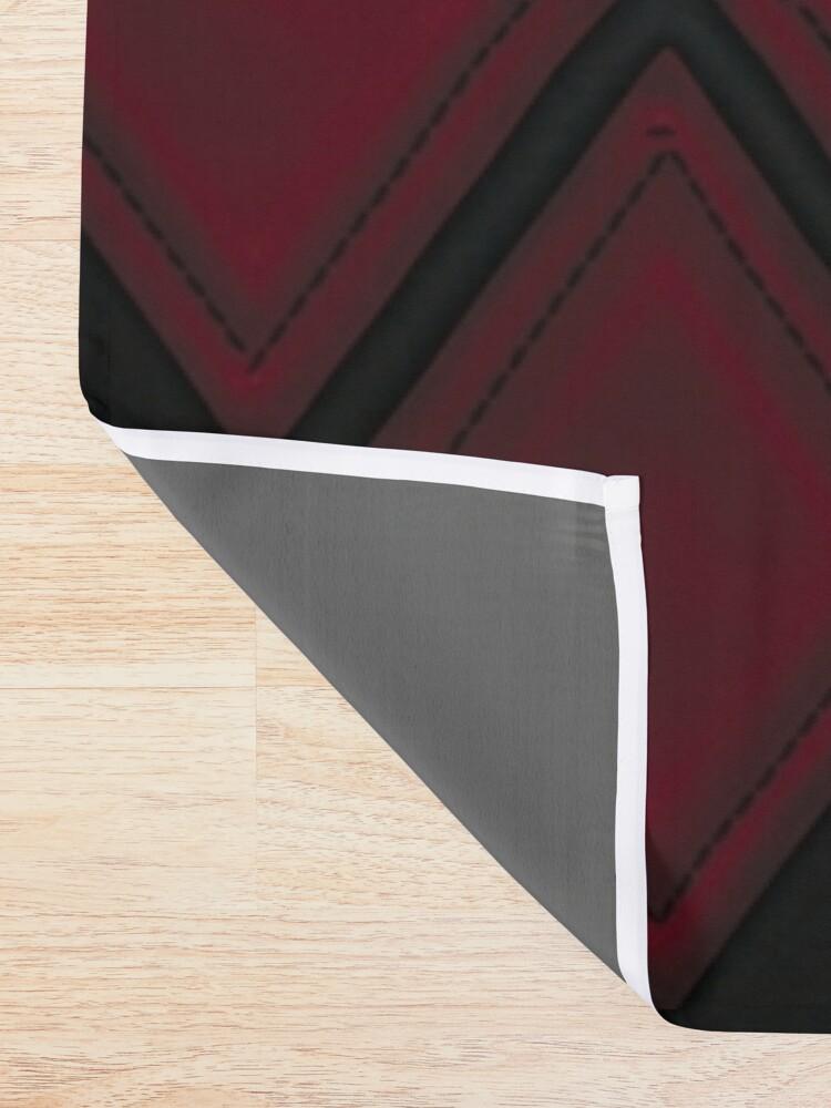 Alternative Ansicht von Patchwork Red & Black Leder Effekt Motley mit Diamant Patches 4 Duschvorhang