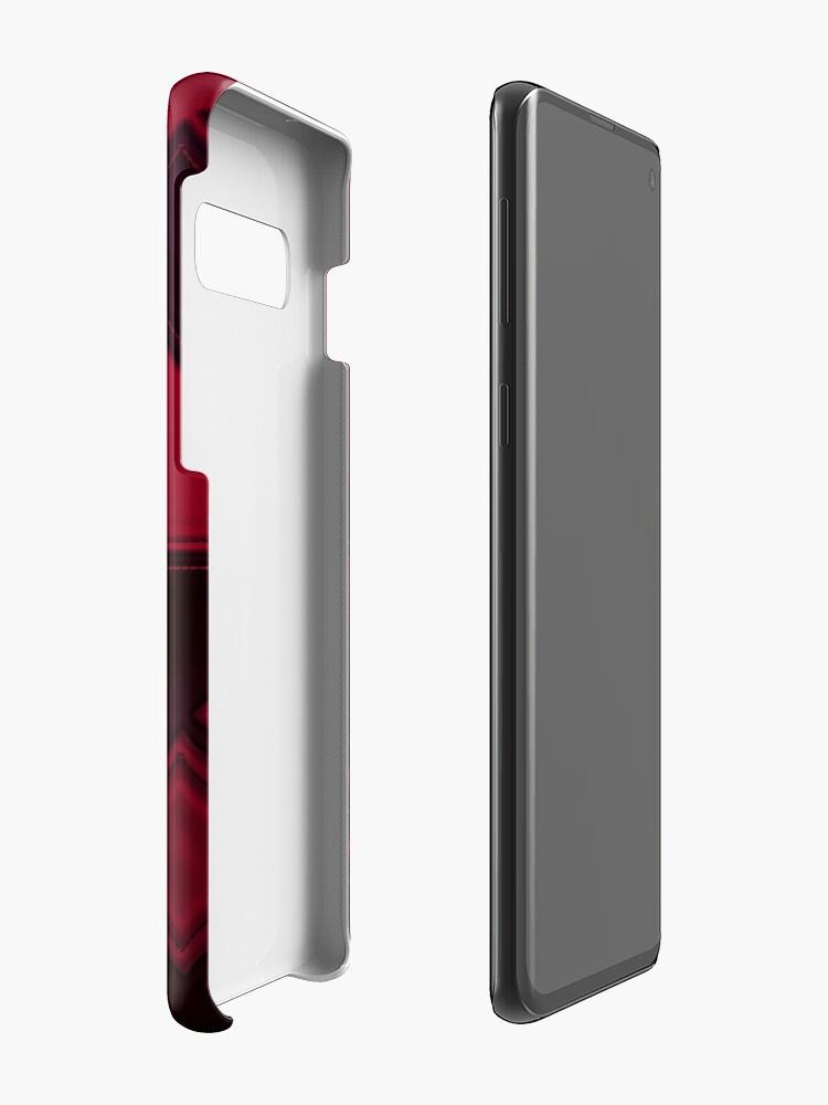 Alternative Ansicht von Patchwork Red & Black Leder Effekt Motley mit Diamant Patches 3 Hülle & Klebefolie für Samsung Galaxy