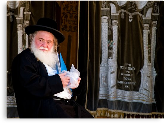 Rabbi and His Scrolls by David Platt-Chance