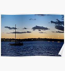 Evening settles on Pumicestone Passage Poster