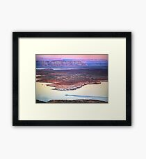 Boat Cruise at Lake Powell in Page, Arizona USA Framed Print