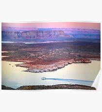 Boat Cruise at Lake Powell in Page, Arizona USA Poster