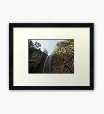 Waterfall Landscape Framed Print