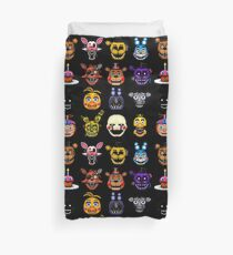 Five Nights at Freddy's - Pixel art - Multiple Characters Duvet Cover