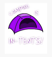 Camping is In-Tents T-Shirt Photographic Print