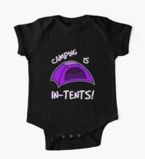Camping is In-Tents T-Shirt One Piece - Short Sleeve