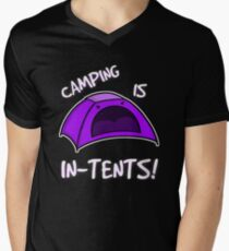 Camping is In-Tents T-Shirt Men's V-Neck T-Shirt