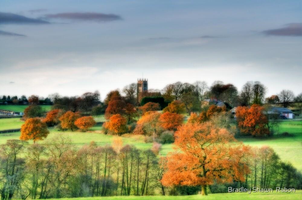"""Rural View of Greesley Parish Church"" by Bradley Shawn  Rabon"