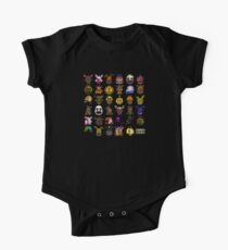 Five Nights at Freddy's - Pixel art - Multiple Characters New Set One Piece - Short Sleeve