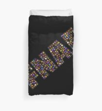 Five Nights at Freddy's - Pixel art - FNAF Typography black BG Duvet Cover