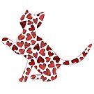 Kitten Hearts Silhouette by catloversaus