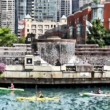 Chicago IL - Kayaking on the Chicago River by SudaP0408