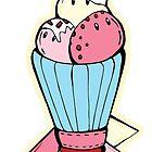 Soft ice cream pattern by Dewychan