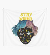 stay weird Wall Tapestry