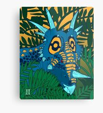 Styracosaurus Jungle Metal Print
