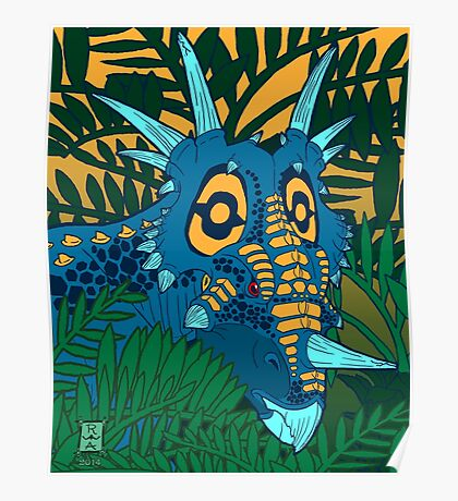Styracosaurus Jungle Poster