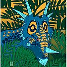 Styracosaurus Jungle by Raven Amos