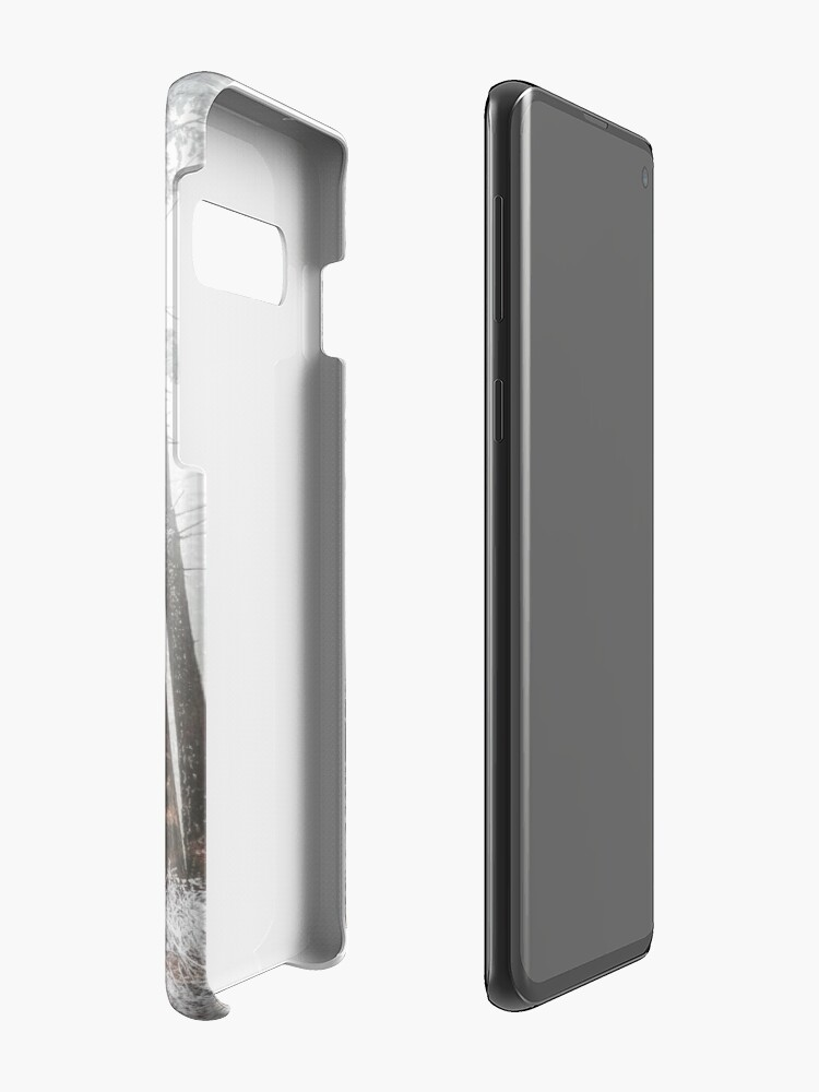 Alternate view of Mysterious road in a frozen foggy forest Case & Skin for Samsung Galaxy