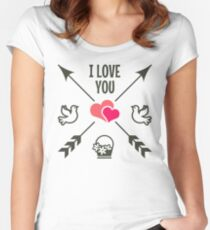 Valentine's Day, I Love You Women's Fitted Scoop T-Shirt