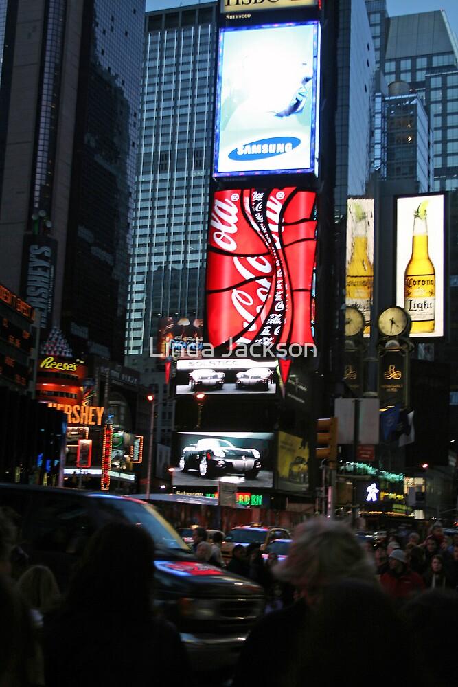 Times Square by Linda Jackson