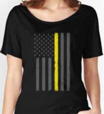 Thin Yellow Line Security Flag Women's Relaxed Fit T-Shirt