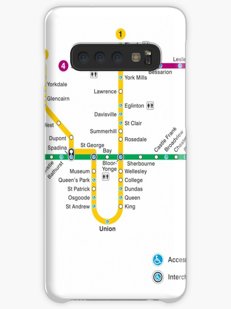 Subway Map Canada Toronto.Toronto Subway Map Canada Case Skin For Samsung Galaxy By Superfunky