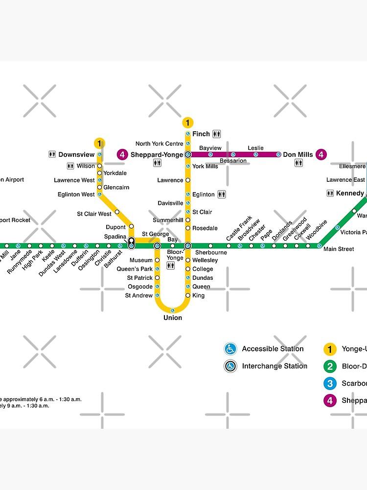 Toronto Subway Map Canada Tote Bag