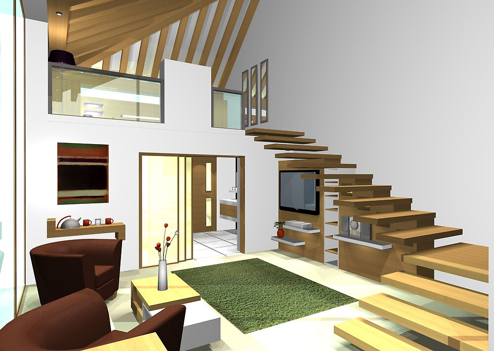 ArchiCAD Render- Barn Conversion- Holiday Home- Bedroom by benni6634