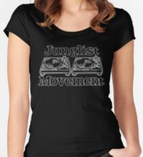 Junglist Movement - White Sketch Women's Fitted Scoop T-Shirt