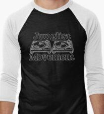 Junglist Movement - White Sketch Men's Baseball ¾ T-Shirt