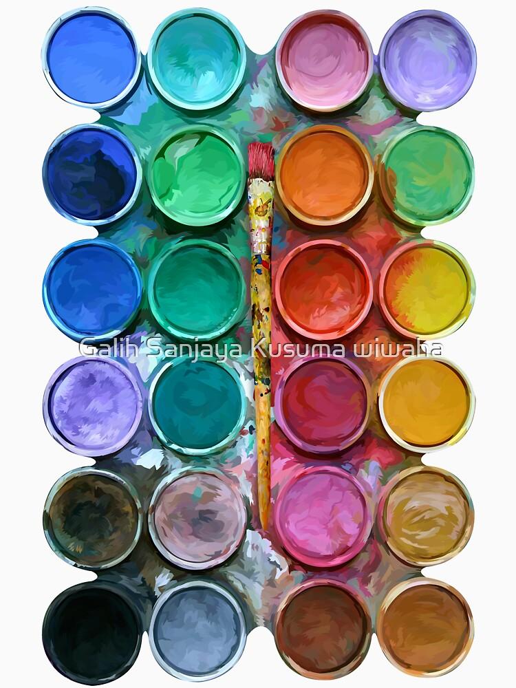 Aquarell Rainbow Flow Abstraktion Palette von GalihArt