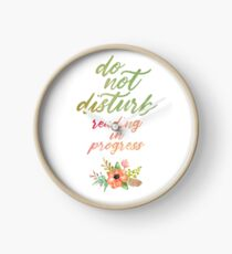 DO NOT DISTURB: READING IN PROGRESS Clock