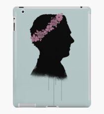 Cumberbatch in a flower crown iPad Case/Skin
