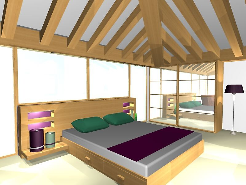 ArchiCAD Render- Barn Conversion- Holiday Home- Bedroom 2 by benni6634