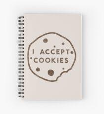 I Accept Cookies Spiral Notebook