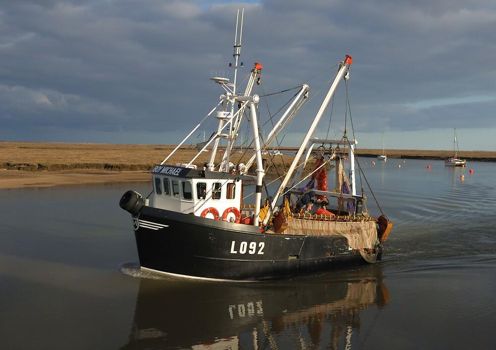 BoyMichael Fishing Boat by Dennis Smith