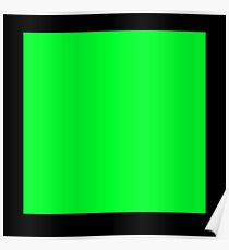 GREEN SQUARE, Green, Eco, Ecology, Ecological, Nature, Natural, on BLACK Poster