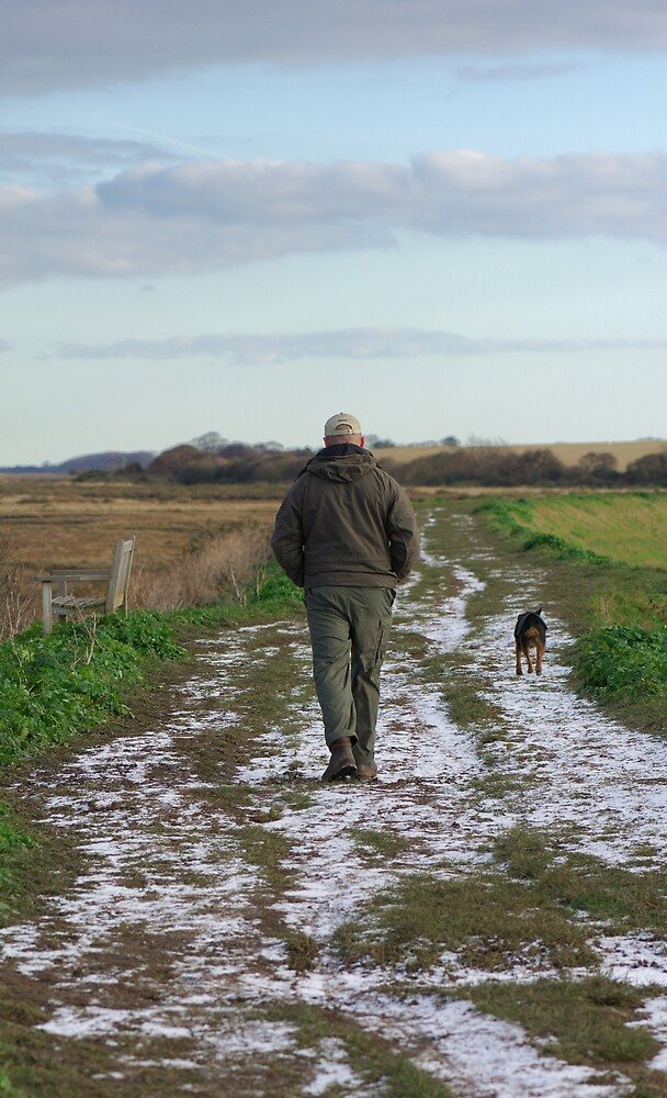 One man and his dog by Dennis Smith