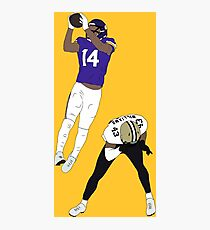 Stefon Diggs Catch Photographic Print