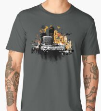 Cityscape background, urban art Men's Premium T-Shirt