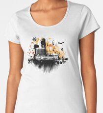 Cityscape background, urban art Women's Premium T-Shirt